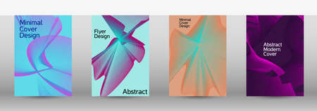 Artistic covers design. A set of modern abstract covers. Future futuristic template with abstract current forms for banner design, poster, booklet, report, journal.