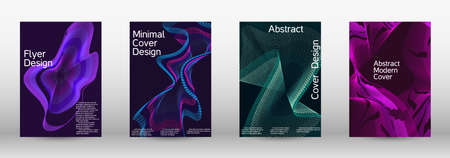 Modern design template. A set of modern abstract covers. Creative fluid colors backgrounds. Vector illustration.
