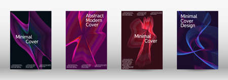 Modern design template. A set of modern abstract covers. Future futuristic template with abstract current forms for banner design, poster, booklet, report, journal. Vector illustration.