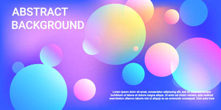 Ball shape gradients. Futuristic abstract background. Bright gradient. Vector geometric illustration. 3d. Background picture with balls for banner, poster, cover design.