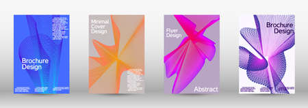 Artistic covers design. A set of modern abstract covers. Creative fluid backgrounds from current forms to design a fashionable abstract cover, banner, poster, booklet. Stockfoto - 164447878