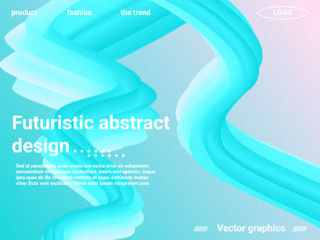 Futuristic abstract background. Abstract 3d cover with bright gradient. Futuristic concept. Abstract background with bright gradient and light effect. 写真素材 - 167149994