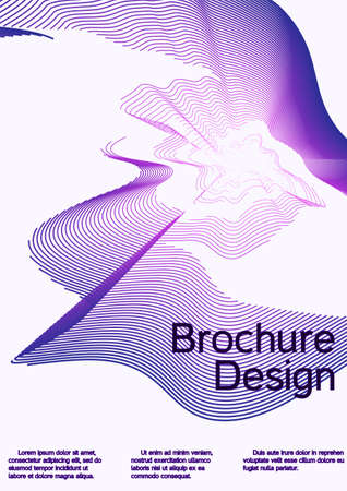 Modern abstract background. Modern design template. Future futuristic template with abstract current forms for banner design