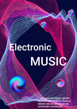 Sound flyer to create trendy abstract cover. Иллюстрация