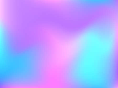 Holographic background. Bright, smooth mesh with a blurry futuristic pattern. Trendy advertising vector. Intense holographic spectrum gradient for printing products, covers. Иллюстрация