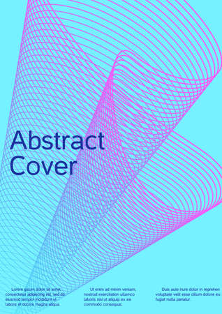 Minimum vector coverage. Future futuristic template with abstract current forms for banner design, poster, booklet, report, journal.