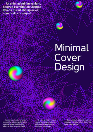 Artistic cover design. Modern abstract background. Creative background from abstract lines to create a fashionable abstract cover, banner, poster, booklet. Иллюстрация