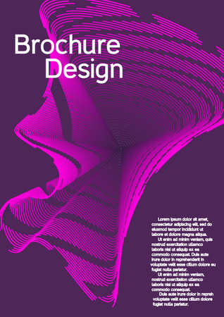 Modern design template. Creative background from abstract lines to create a fashionable abstract cover, banner, poster, booklet.