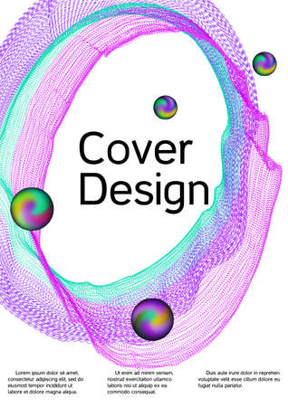 Minimum vector coverage. Modern design template. Sound flyer to create trendy abstract cover, banner, poster, booklet. Иллюстрация