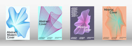 Artistic covers design. A set of modern abstract covers. Creative backgrounds from abstract lines to create a fashionable abstract cover, banner, poster, booklet.