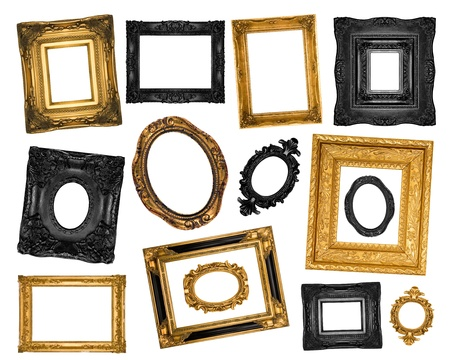 Beautiful ornate frames set Stock Photo