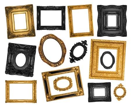 Beautiful ornate frames set photo