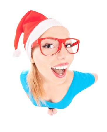a funny Santa girl Stock Photo - 16336407