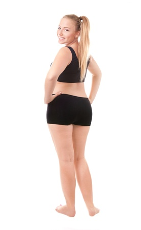 girls bottom: Size 40 woman isolated over white background