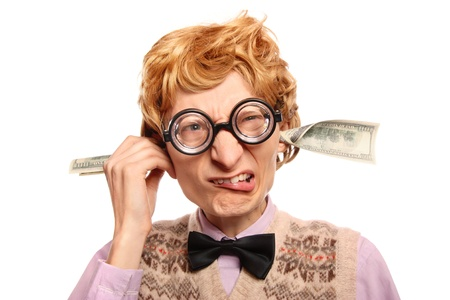 Dollar bills coming out of my ears  Stock Photo - 16498825