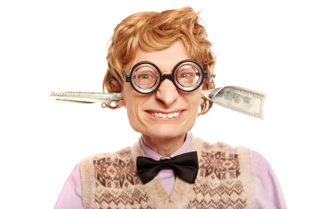 Dollar bills coming out of my ears Stock Photo - 16498824