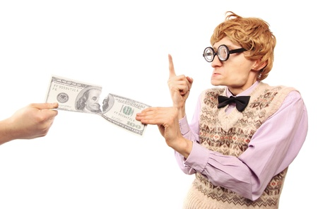 Stealing or paying too much taxes concept Stock Photo - 16498813