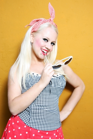 Pin up portrait photo