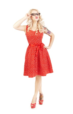 Pretty pin-up girl Stock Photo - 16572642
