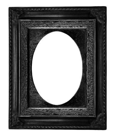 owalne: Piękna czarna ramka