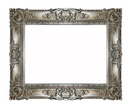 baroque border: Silver vintage ornate frame