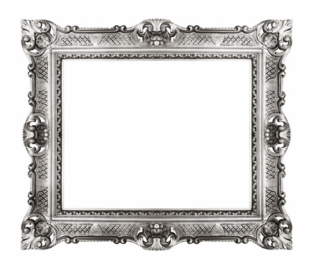 Silver Vintage Ornate Frame Stock Photo, Picture And Royalty Free ...
