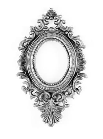 elipse: Plata adornado marco de la vendimia