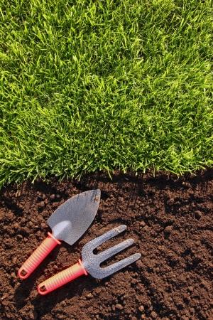 red soil: Gardening background