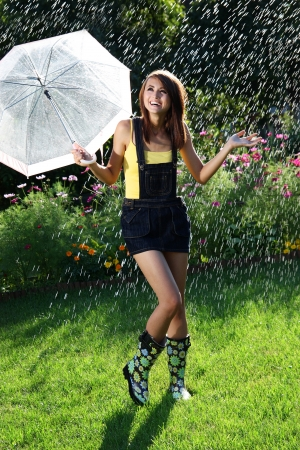 Dancing in the rain photo