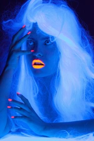 ultraviolet: Fairy tale portrait in uv light