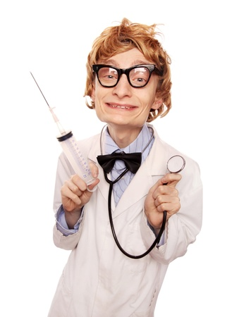 Cute doctor Nerd Stock Photo - 16739313