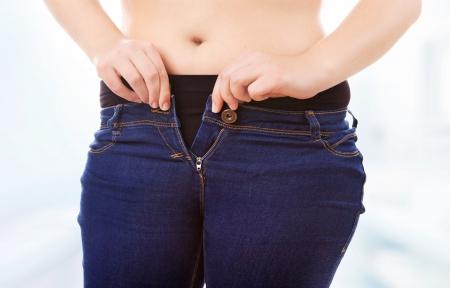 jeans apretados: Tamaño 40 42 Mujer comprimir jeans ajustados, la obesidad y el concepto de exceso de peso