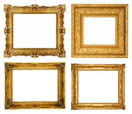 gold frame: Set of gold frames