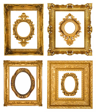 Set of gold frames photo
