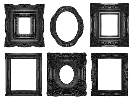 Black ornate frames  photo