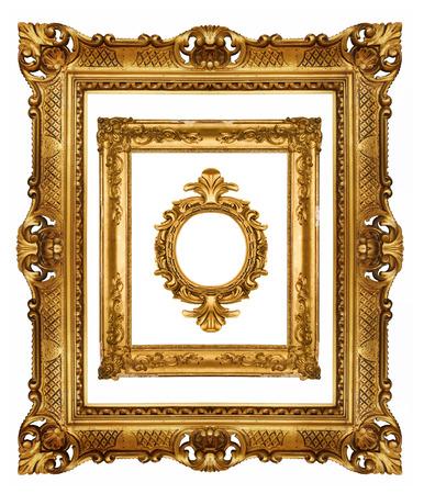 baroque: Set of gold frames