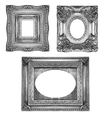 Vintage silver ornate frames photo