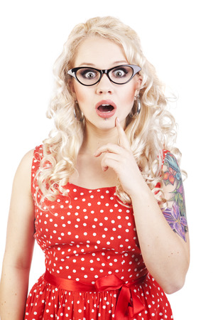 Attractive surprised girl  photo