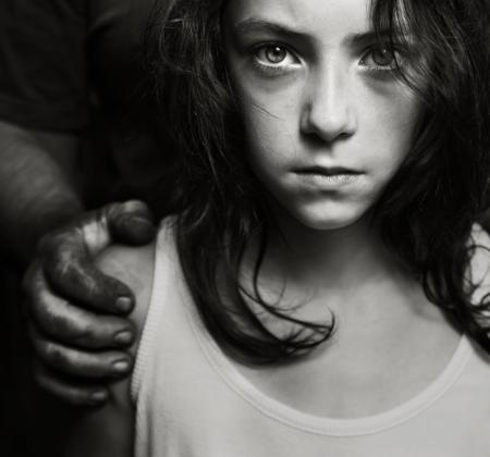 児童虐待の概念 写真素材