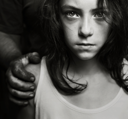 abusive man: Child abuse concept