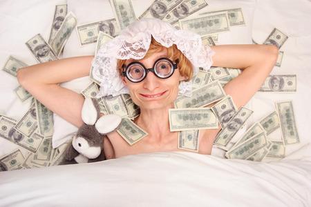 Sleeping with money photo
