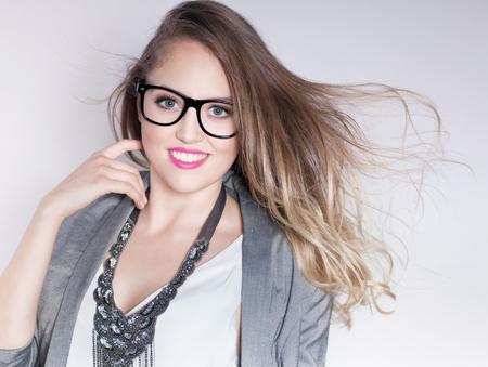 Beleza: riso inteligente mulher de neg