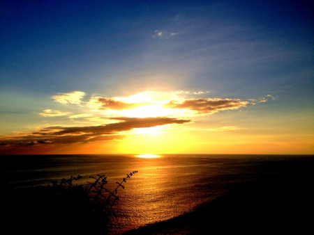 sunset beach: Sunset view