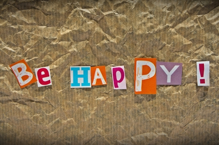 BE HAPPY message  photo