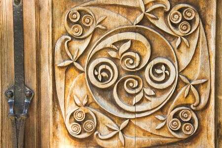 tallado en madera: Tallada vieja adorno de madera