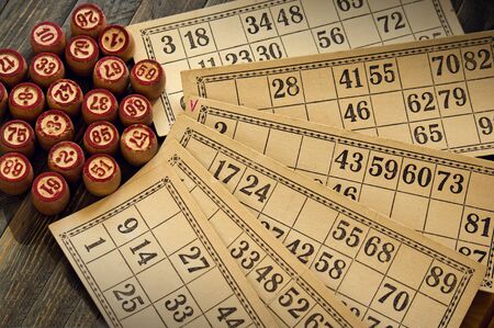 lotto: Vintage lotto: kegs and cards