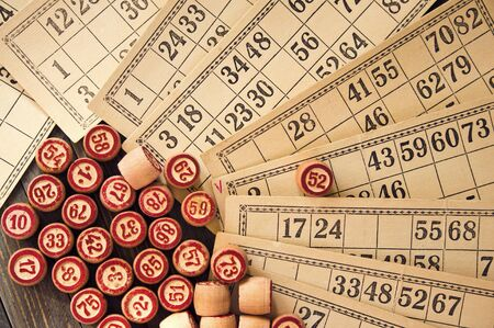 kegs: Vintage lotto: kegs and cards