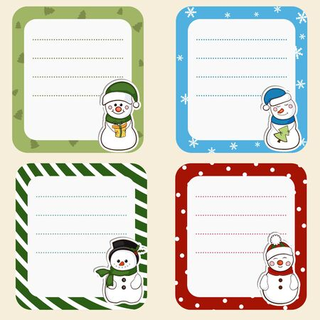 christmas winter: Collection of cute frames. Christmas theme. Set4. Illustration