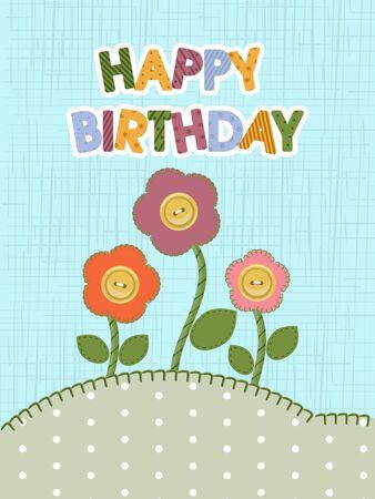 homespun: Happy Birthday card.