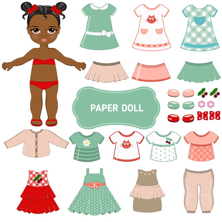 paper doll: Paper doll with clothing set.
